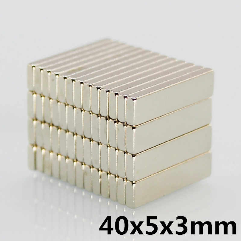 5 Pcs 40X5X3 Mm N35 Super Kuat Kecil 40*5*3 Mm Neodymium Magnet rare Earth Magnet Kuat