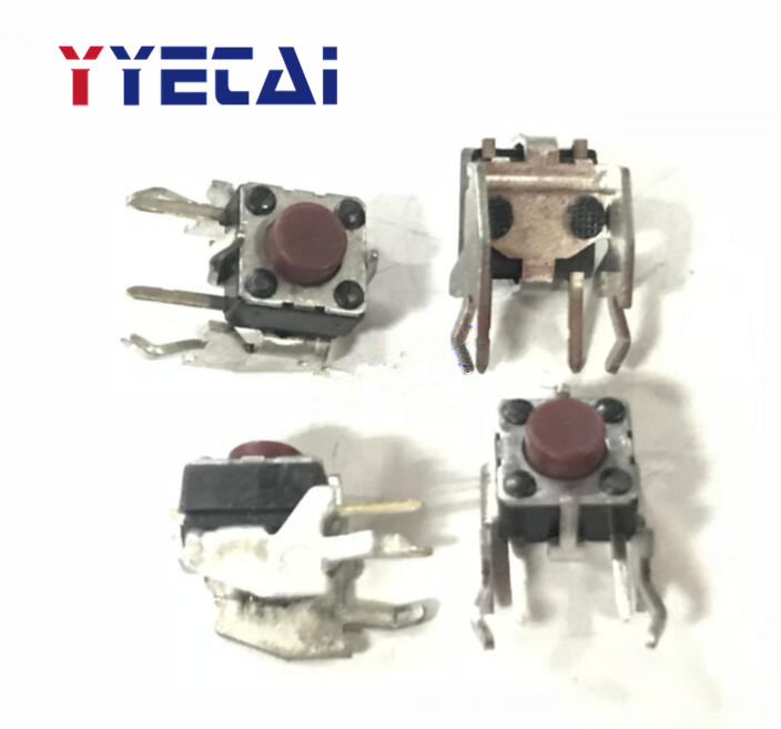 YongYeTai EVQPFC04R <font><b>Tact</b></font> <font><b>Switch</b></font> 6*6*5 with Bracket Horizontal Side Push Button <font><b>Switch</b></font> Side Press free shipping image