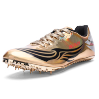 Teenager Man Track Field Shoes Lightweight Men Spikes Sneakers for Running Gold Silver Tracking Male Spike Sneakers