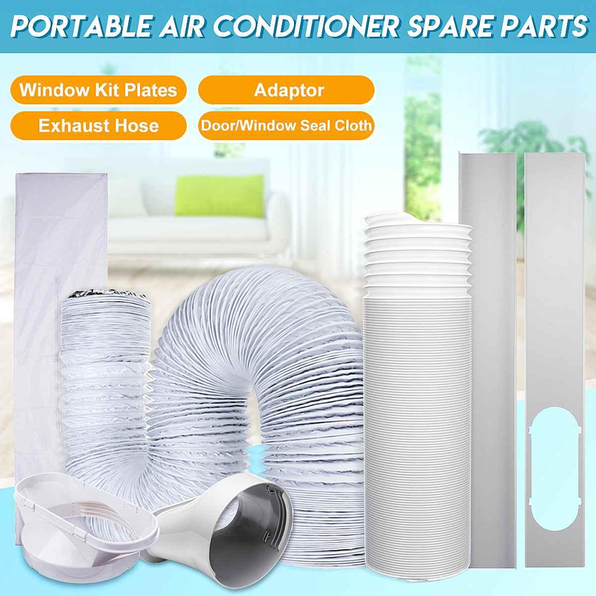Portable Air Conditioner Accessories Window Plate Door/Window Seal Cloth Adaptor Exhaust Hose Tube Air Conditioner Spare Parts