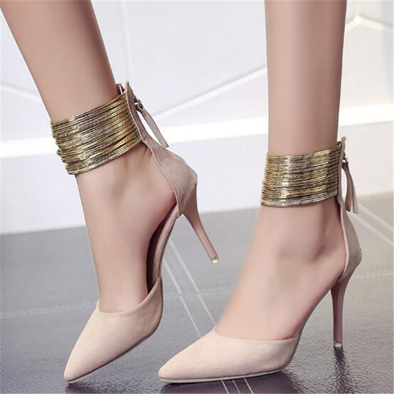 elegant mary jane shoes designer metal chain women high heels pointed toe party high heel ladies pumps big size zapatillas mujerelegant mary jane shoes designer metal chain women high heels pointed toe party high heel ladies pumps big size zapatillas mujer