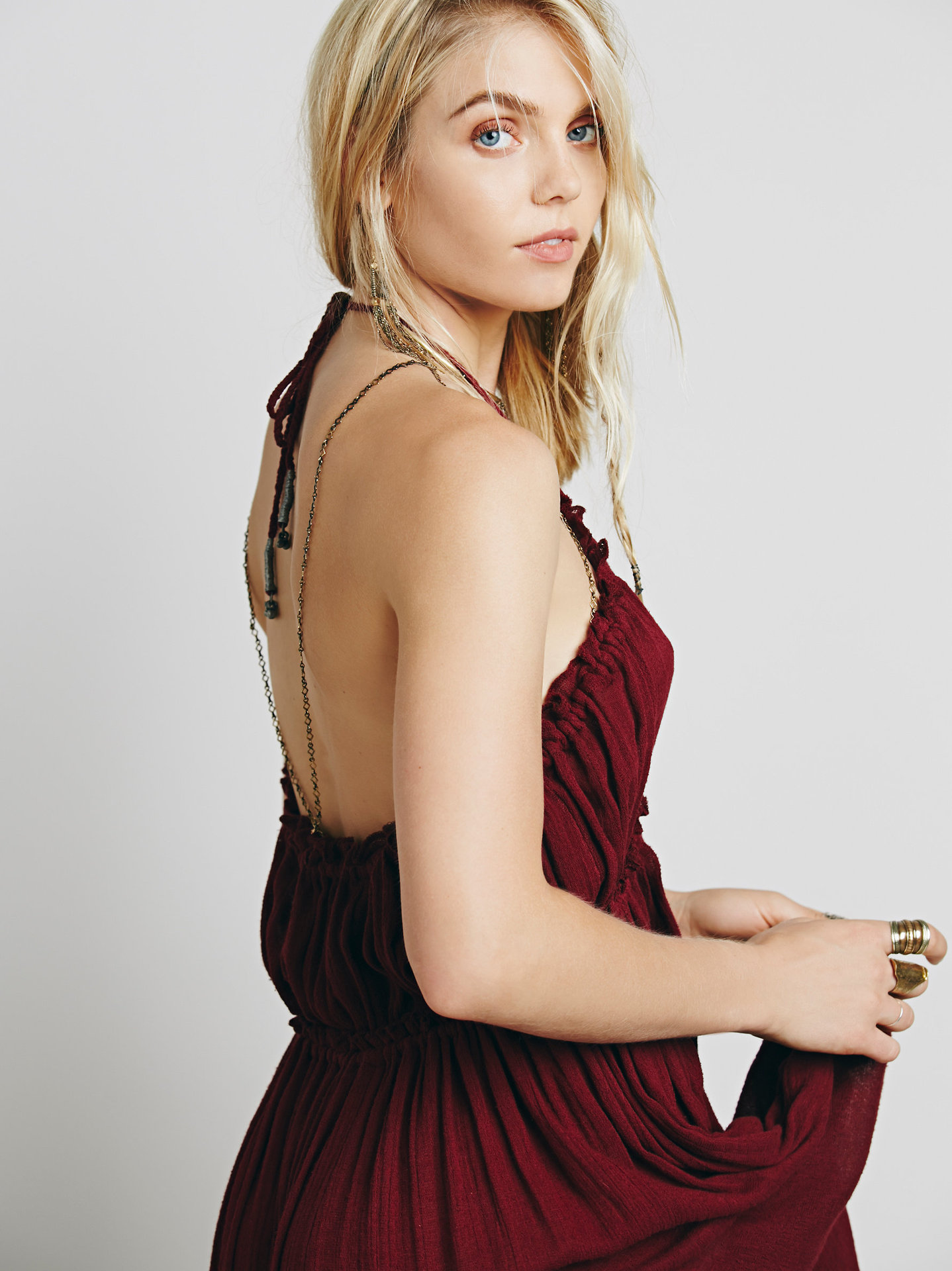Beauty Backless V-Neck Long Dress 7