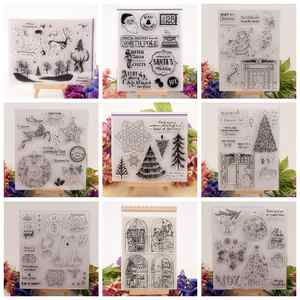Clear-Stamps Paper Scrapbooking Transparent Christmas Silicone Santa-Tree House for DIY