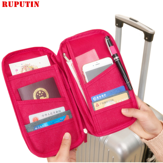 8f1a0ec5e79e US $5.22 20% OFF|RUPUTIN Men's Travel Organizer Passport Holder Card  Package Credit Card Women's Wallet Document Package Multi Pockets Card  Pack-in ...