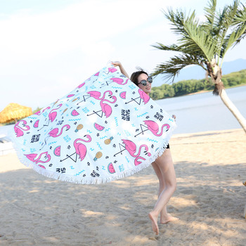 Round Patterned Beach Towel - Cover-Up - Beach Blanket 2