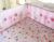 Promoción! 7 unids bordado newborn juego de cama colcha hoja de cuna parachoques sistema del lecho del bebé, incluyen ( parachoques + funda de edredón + cubierta de cama falda de la cama )