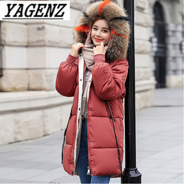 0832c8cb996 2018 winter down cotton women hooded coat fur collar thicken warm long jacket  female plus size
