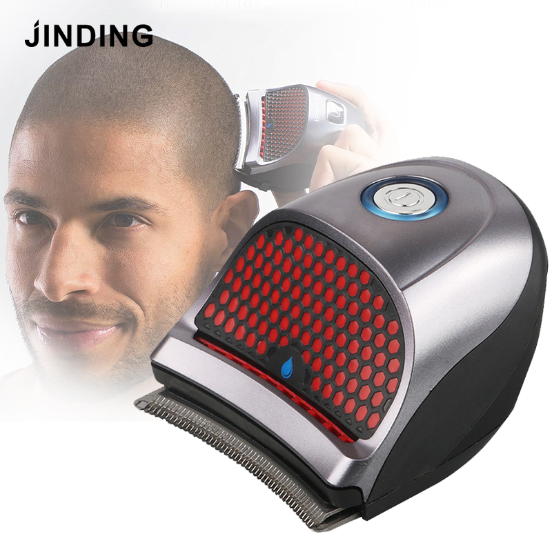 JINDING Bald Head Clipper Shortcut Self-Haircut Kit Hair Clippers Cordless Rechargeable Hair Trimmers Beard Shaver With 9 Combs