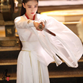 El más nuevo TV Jugar Frontera-Ciudad Pródigo Zhang XunYu Mismo Diseño Hanfu Espada Mujeres Transversal de género Heroína Blanca Rendimiento traje