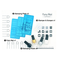 Fairy MAT Stamping Plates Stamper Polish Pro Nail Art Sets Stamp Work Space Vinyls Water Silicon
