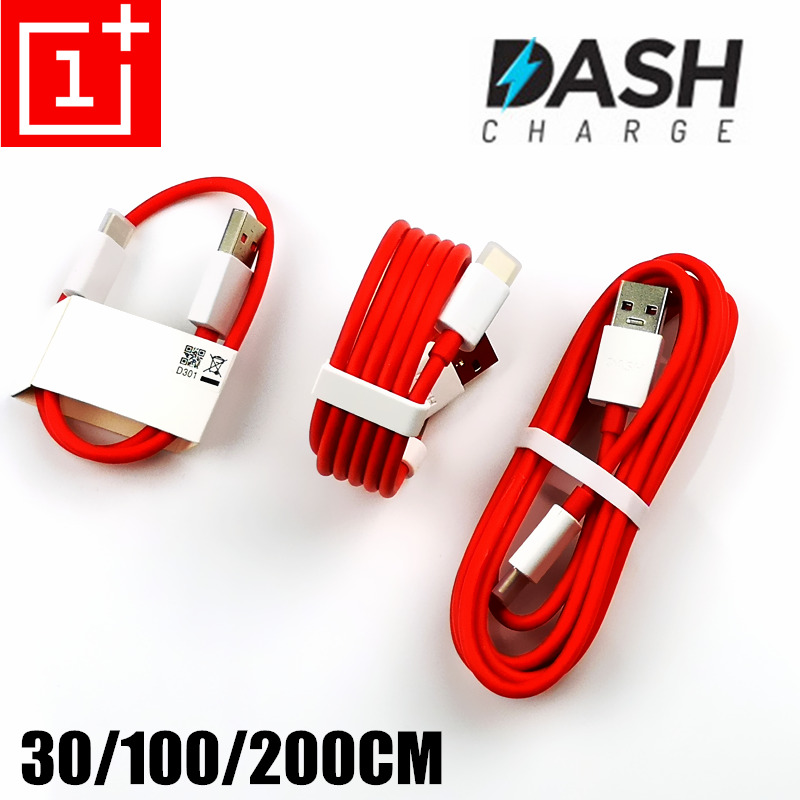 Original OnePlus 6 Dash Charger Cable 30cm/100cm/200cm red 4A Fast Charge Data Cable For One plus 6t 5t 5 3t 3 Mobile Phone-in Mobile Phone Cables from Cellphones & Telecommunications