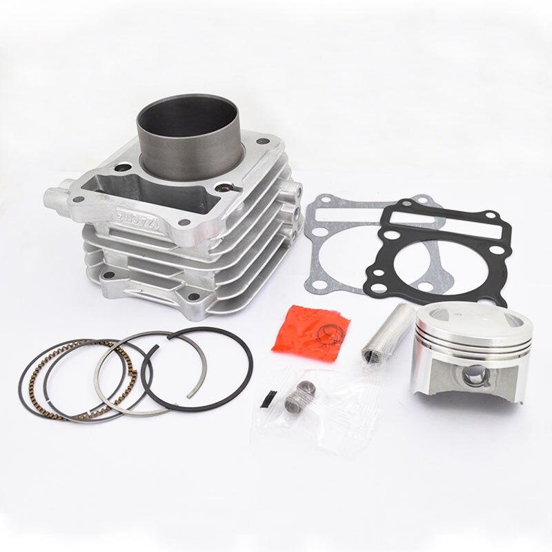 Moto Cylindre Kit 62mm Big Bore pour Suzuki EN125 GS125 GN125 GZ125 DR125 TU125 150cc Moteur Modifié 157FMI Plat piston
