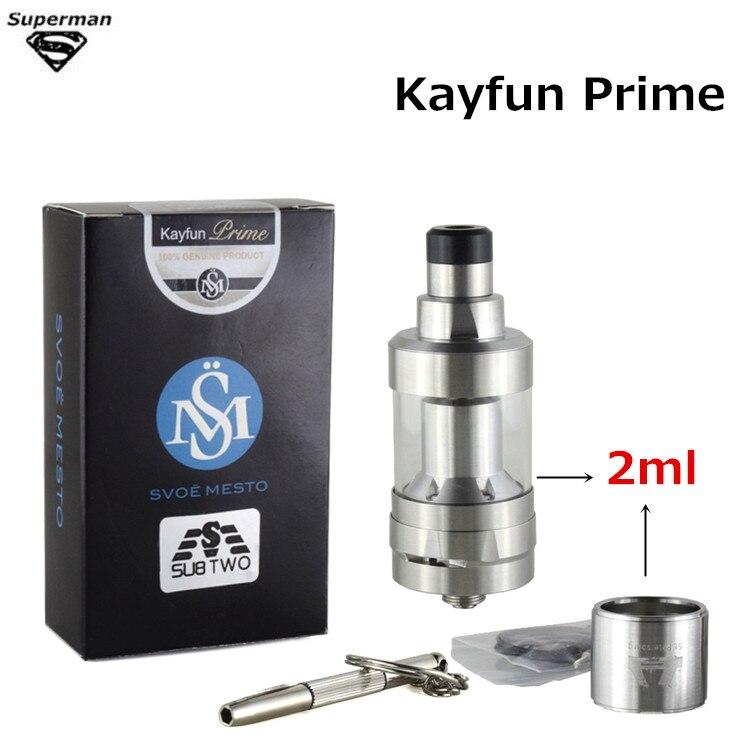 Kayfun Prime KF V6 MTL Styled RTA atomizer airflow control rebuildable Dripper big vapor tank 316 stainless steel vaporizer