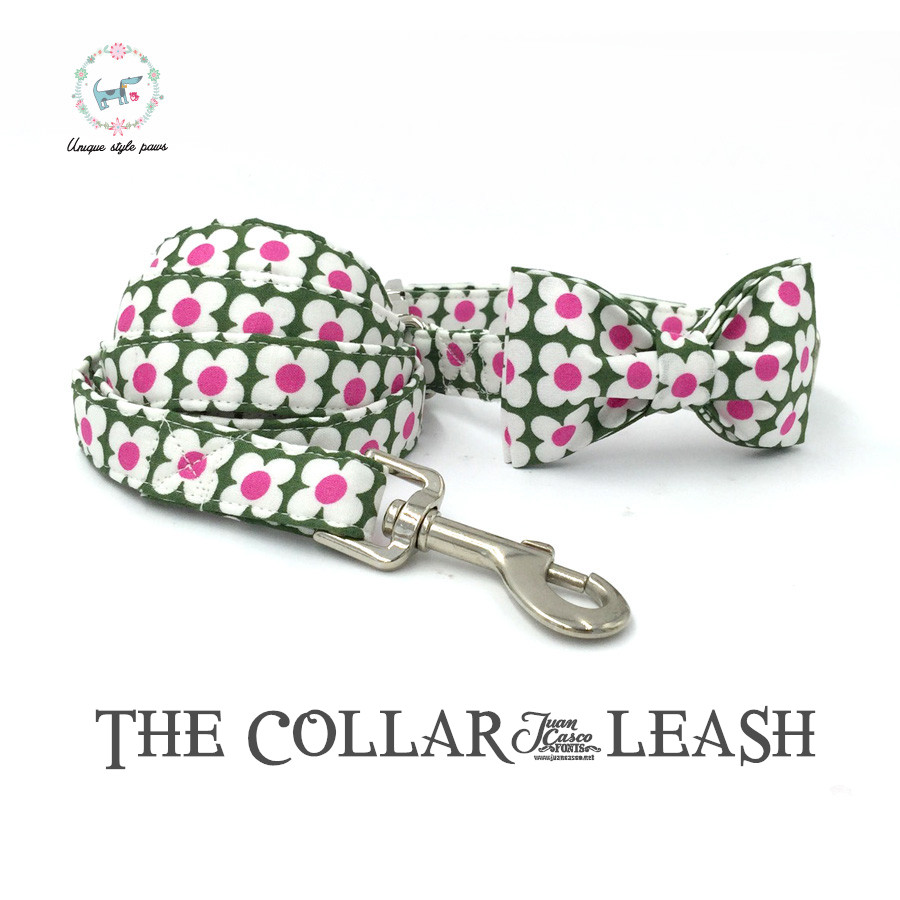 Online get cheap pink bow cat collar aliexpress alibaba group the green and pink flowers dog or cat collar set with bow tie and leash personal custom pet pupply designer pet necklace dhlflorist Choice Image