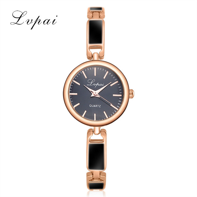 2018 LVPAI Luxury Women Bracelet Watch Clock Women Alloy Quartz WristWatches Fas