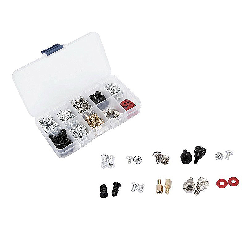 228pcs Personal Computer Desktop Screws & Standoffs Set Assortment Kit for Mother Board M3 M3.5 M5 set screws with plastic box 10pcs lot pneumatic fittings 6mm 6mm 6mm tee fitting push in quick joint connector pe 6