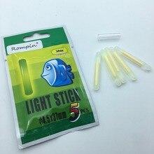 Rompin 25pcs/5bag Fishing Float Light stick Fishing Rod Tip Bait Alarm Night Fish Bobber Glow Stick visible  3.0x25mm 4.5*37mm