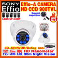 "Hot Style Nano Real 1/3""Sony CCD Effio 4140DSP+238 Color Image Video Home Hd Cctv Camera Osd Bule LED Infrared Night Vision 30m"