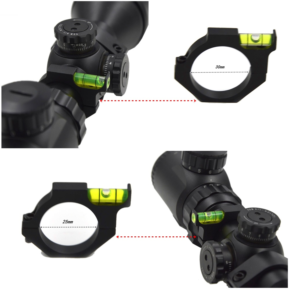 1PC räckvidd basfästen Riflescope Bubble Level Spirit Level För 30mm eller 25.4mm rör rifle ringen Ring