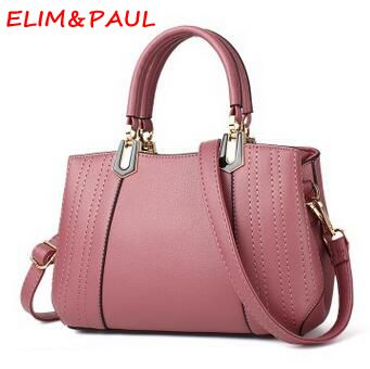 1a4ac40bf5 ELIM PAUL Fashion Ladies Hand bag Women Pu Shoulder Bags Luxury Handbags  Women Bags Designer Casual Tote Women Messenger Bags -in Shoulder Bags from  Luggage ...