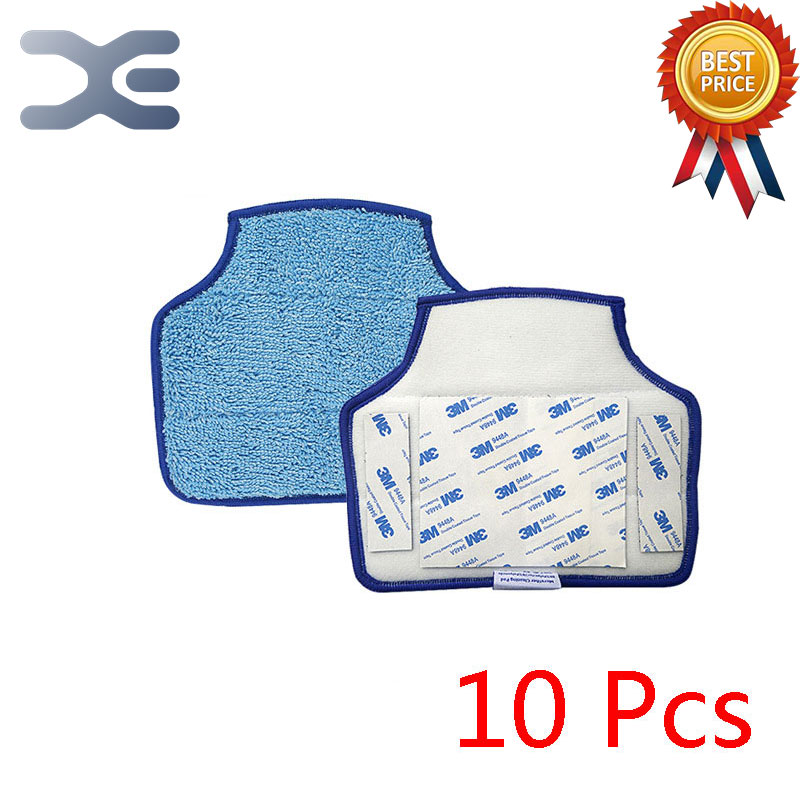 10Pcs For Neato XV Botvac D85 D80 D75 70e Vacuum Cleaner Accessories Sweeper Accessories Mop Cloths 10pcs replacement hepa dust filter for neato botvac 70e 75 80 85 d5 series robotic vacuum cleaners robot parts
