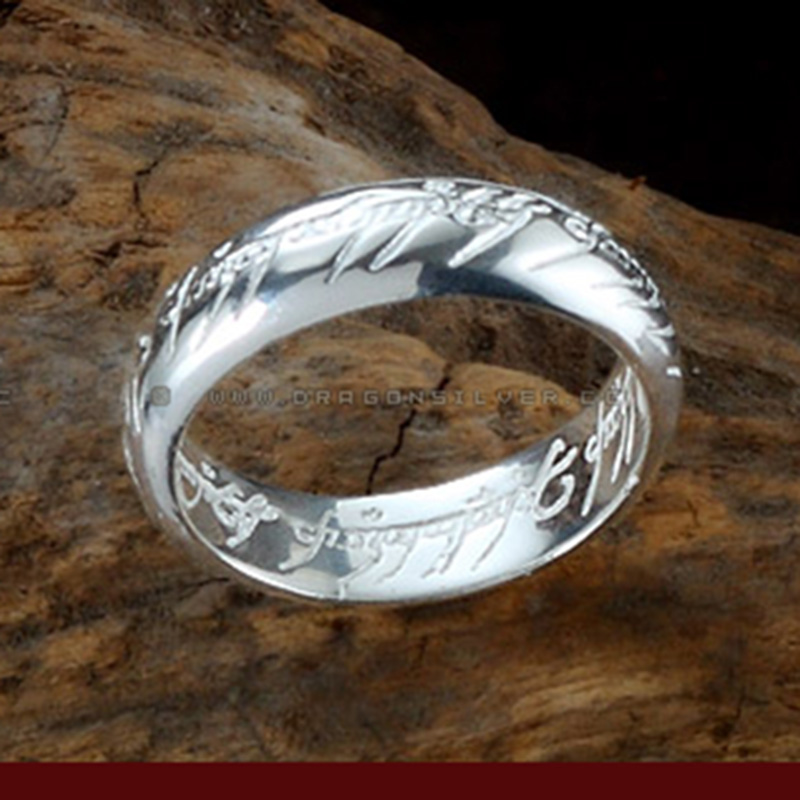 Wedding Ring On Chain Boy Or Girl: LOTR Ring Widened Thickened 925 Silver Ring Wedding