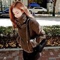 2016 New Women Fashion Lambs Wool cotton coat female winter thicken warm jacket coats lady Casual short jackets outerwear  X6232