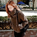 2016 Novas Mulheres Da Moda Lã de Carneiro casaco de algodão engrossar casaco quente casacos de inverno feminino lady Casual jaquetas curtas outerwear X6232