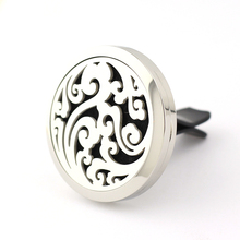 Hot Selling Car Perfume Locket 35mm 316L Stainless Steel Round Shape Magnetics Amoratherapy Diffuser Lockets