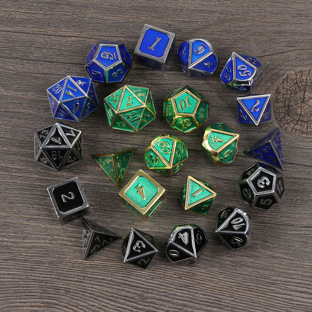 7Pcs/Set 2018 NEW Embossed Heavy Metal Polyhedral ...