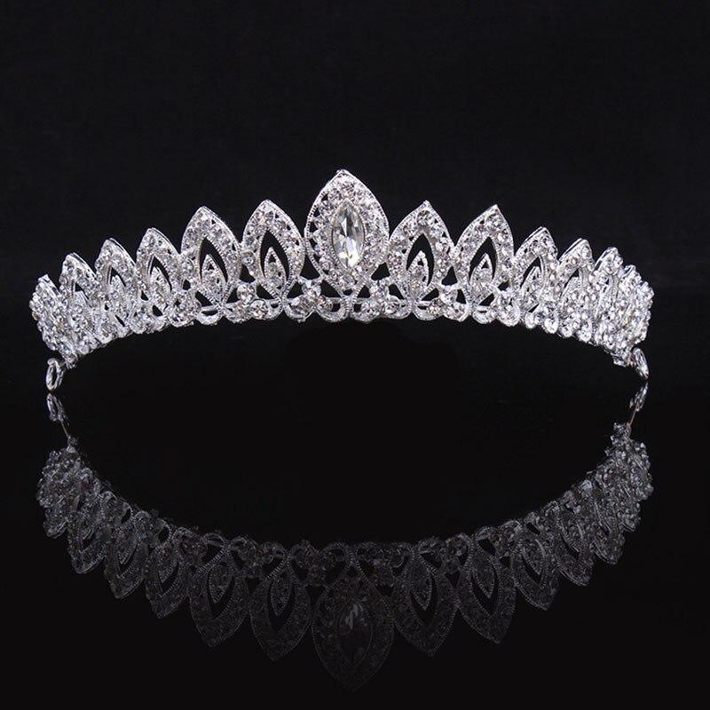 Luxury Crystal Princess Crown Weddidng Bride Crowns and Tiar