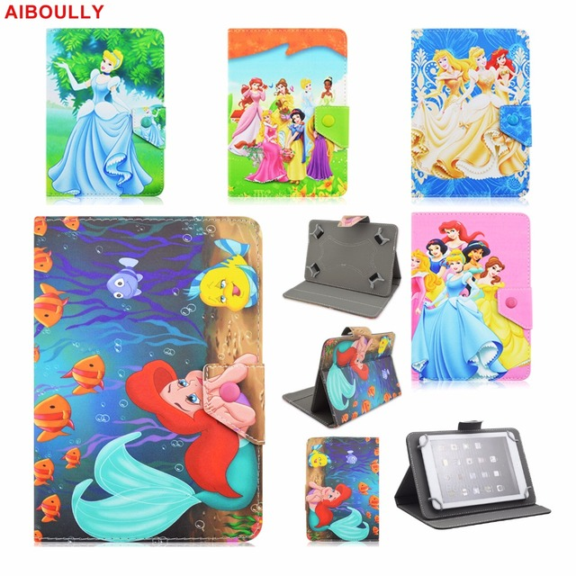 US $7 19 10% OFF|AIBOULLY Girls Princess Elsa Anna Snow White Universal  Case for 7