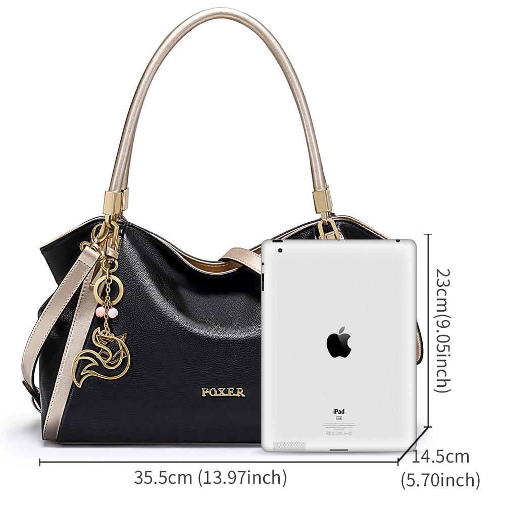 FOXER marka dizaynı Qadın yumşaq orijinal dəri çantaları - Çantalar - Fotoqrafiya 3