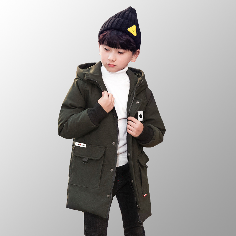 Winter Parkas Kids Clothes Long Teenage Warm Jacket Toddler Boys Winter Coats Down Jackets Boys Winter Jacket for 8 10 12 Years