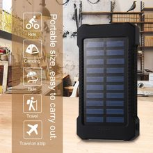 Waterproof Solar 30000mAh Solar Power Bank Charger 2 USB Ports External Charger Powerbank for Xiaomi with LED Light(China)