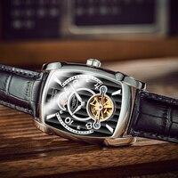 GUANQIN Men Watche top brand luxury Winner Fashion Skeleton Clock Men Sport Watch Automatic Mechanical Watches Relogio Masculino