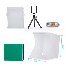 Mini Folding Studio Light Box Photography Foldable Portable Photo Lighting Studio 4 Colors Background Shooting Tent Box Kit 10PC