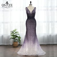 QSYYE 2019 New Collection Evening Gowns Party Prom Dresses In stock Low Price Purple Sexy Mermaid High Quality