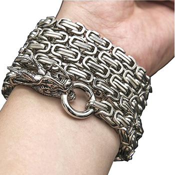 101cm EDC Outdoor Stainless Steel Dragon Hand Bracelet Tactical Whip Corrosion Resistance Self Defense Protection Waist Hanging 6