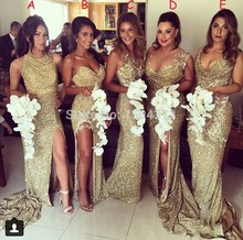 2017 Bridesmaid Dresses Long Gold Sequin Bridesmaid Dress Mismatched Bridesmaid Dresses Cheap Wedding Guest Dresses Adult