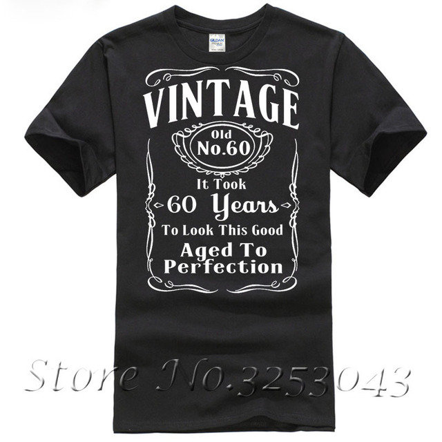 5f5219162 Vintage 60th Birthday T Shirt Funny Gift 60 Years Old T shirt-in T ...