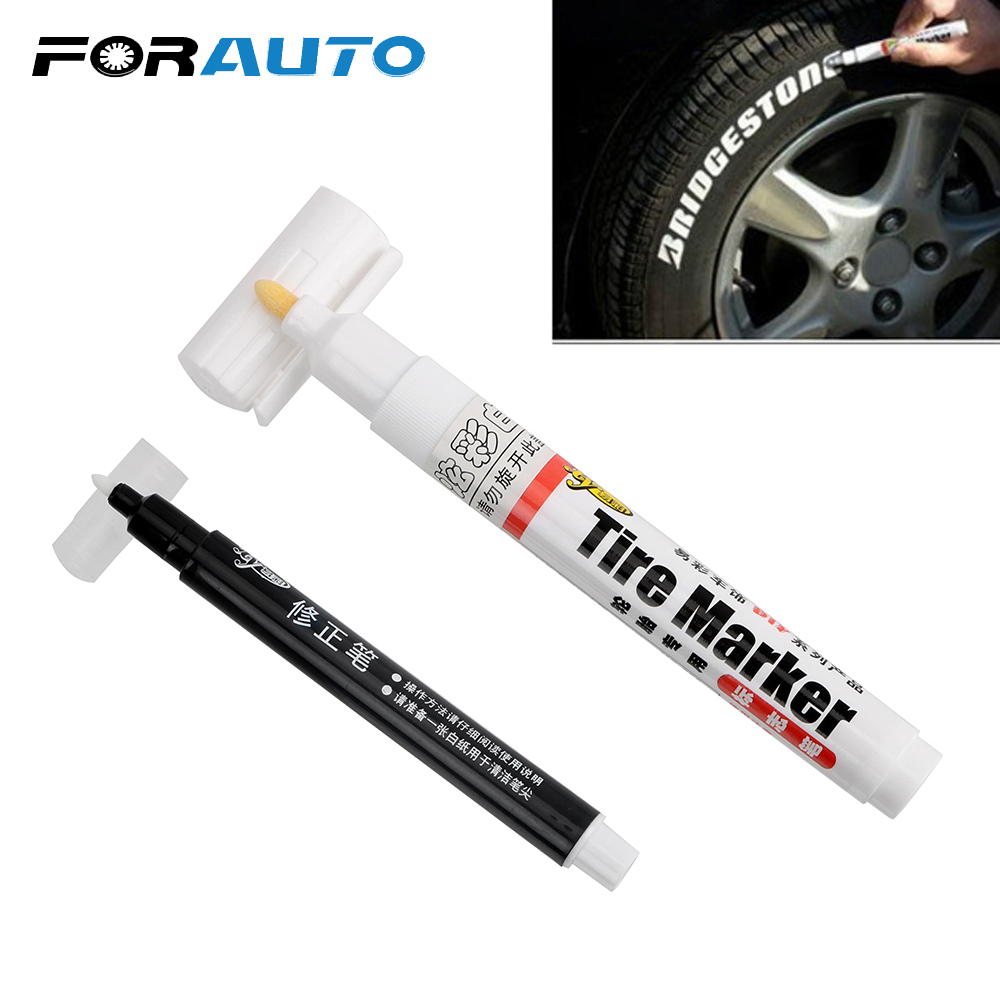 White Permanent Marker Paint Pen Great Idea For Car Motorcycle Tire Tread Rubber Metal Diy Projects 10pcs Waterproof Tyre Paint Marker Pens Office School Supplies Markers Highlighters
