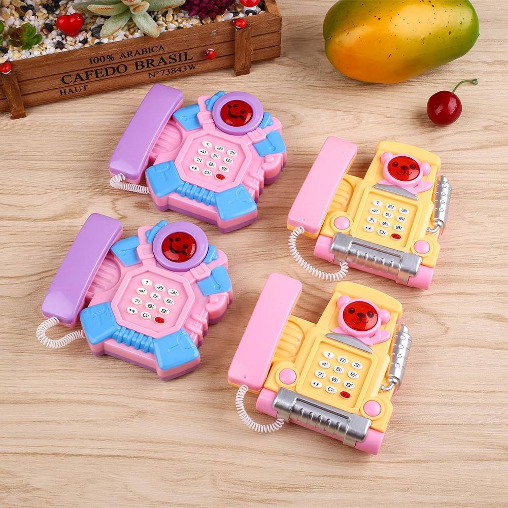 1 Pc Baby-musical Spielzeug Cartoon Musical Telefon Pädagogisches Entwicklung Intelligenz Musical Spielzeug Niedlichen Mini-sounding Spielzeug
