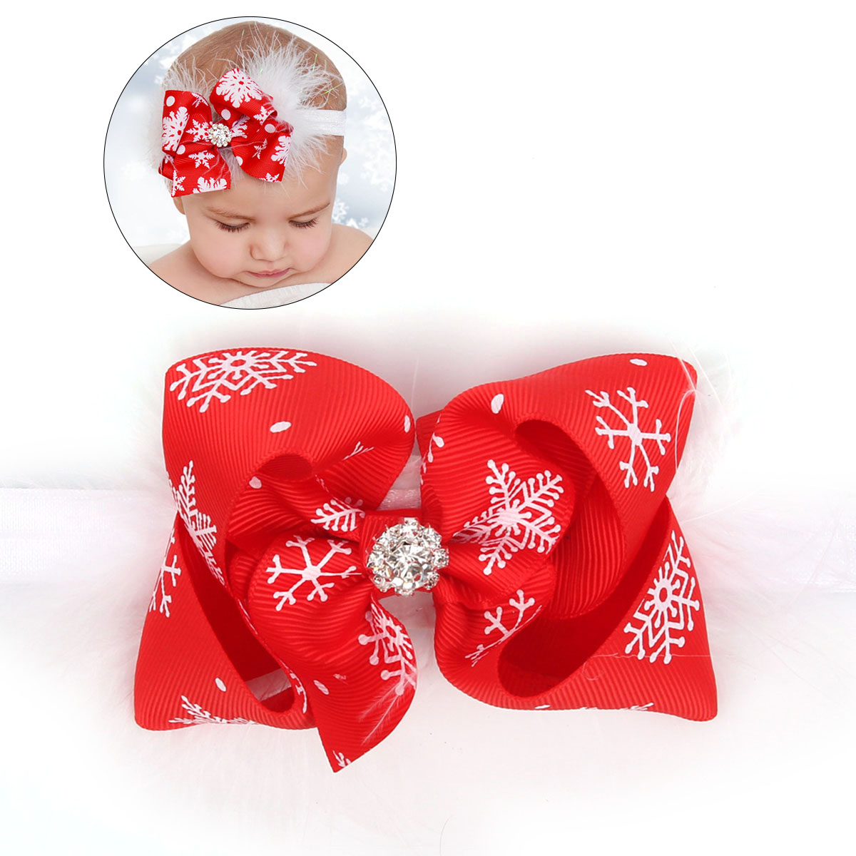 Christmas Headband For Baby Girl.Us 1 13 45 Off 1pc Baby Girl Christmas Headband Newborn Infant Feather Bowknot Hair Band Headwear Accessories In Christmas Headbands From Home