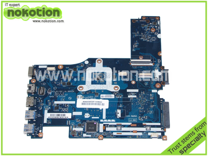 NOKOTION VILG1 G2 LA-9902P Rev 1.0 Laptop Motherboard for lenovo ideapad  G400S 14 inch Intel HM77 HD4000 graphics Mainboard nokotion laptop motherboard for lenovo g570 la 675ap mainboard intel hp65 ddr3 socket pga989