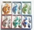 12 Компл./лот Бесплатная Seahorse Муранского Стекла Lampwork Кулон Ожерелье Серьги Комплект Ювелирных Изделий