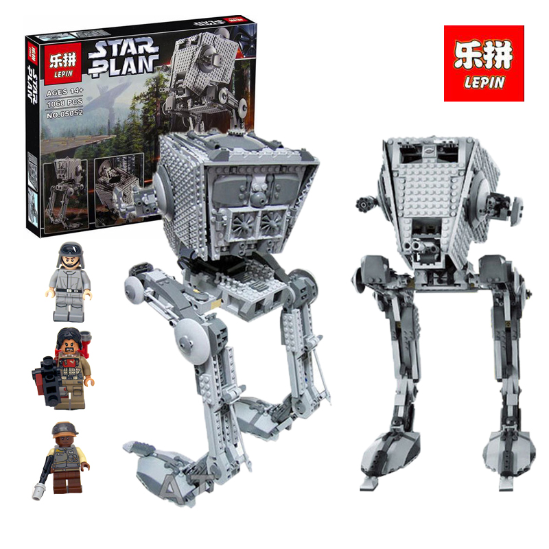 Lepin 05052 1068Pcs Star Series War The AT- Robot ST Building Blocks Bricks Set legoINGlys Toys 75153 for children day's Gift hot new compatible legoinglys star wars series motorized walking at at model robot building blocks toys for children gift