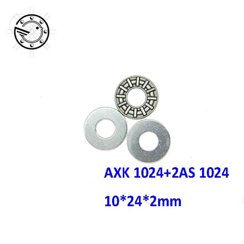 12pcs AXK1024 Thrust Needle Roller Bearing 10x24x2 Thrust Bearings for 10mm shaft na4910 heavy duty needle roller bearing entity needle bearing with inner ring 4524910 size 50 72 22