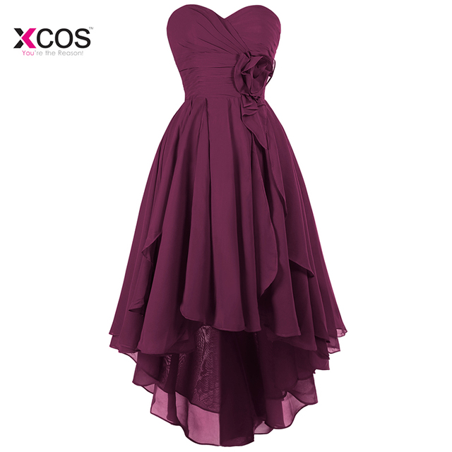 High Low Purple Country Bridesmaid Dresses for Wedding A-Line Boho Wedding Party Guest Gowns Vestido Madrinha