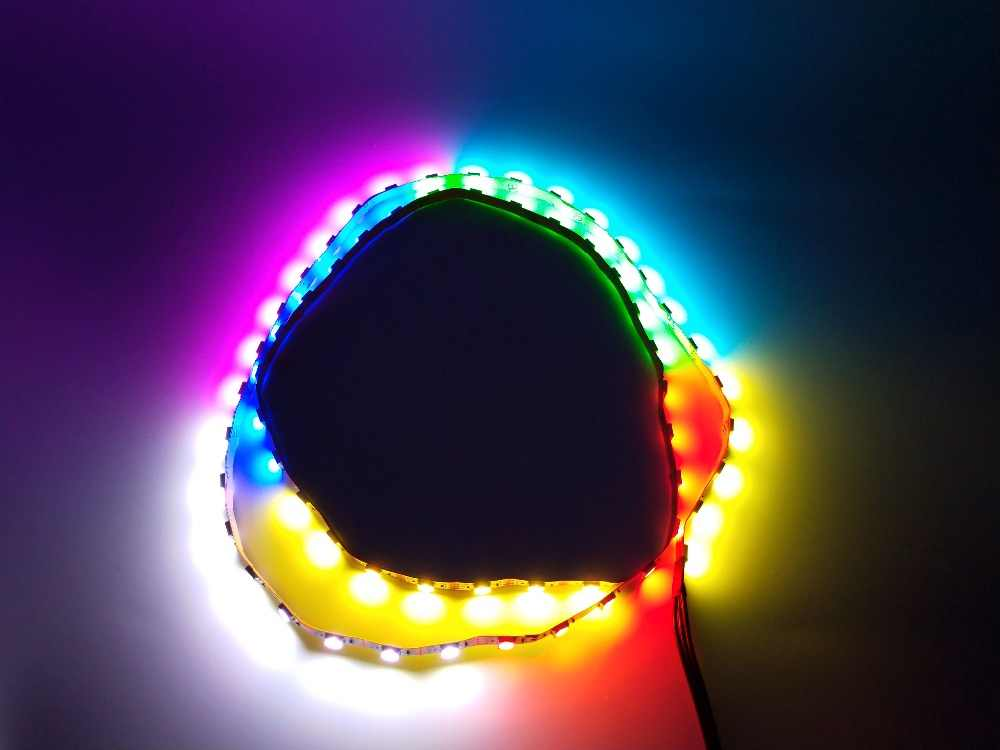 buy popular edccb 74290 FREEZEMOD Computer water cooling light rainbow LED strip lighting manual  control or remote control YKDT-CH